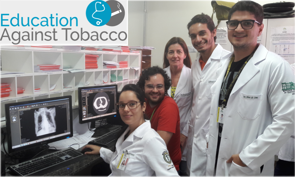 From left to right: students Bárbara Fonseca and Gabriel Pinto, Prof. Dr. Maria Castro (supportive faculty), students Guilherme Leal and Caio Alves. School of Medicine at Federal University of the Triangulo Mineiro (UFTM), Brazil.