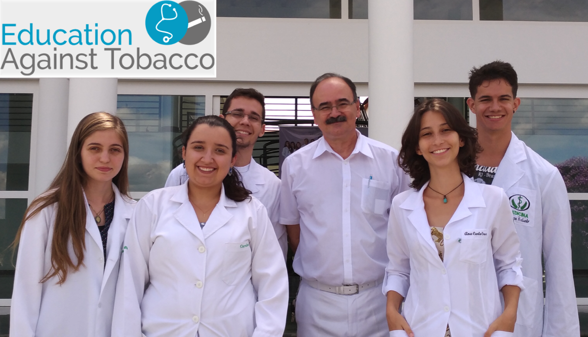 From left to right: students Bianca Lisa, Carol Mendonça and Ricardo Miranda, Prof. Dr. Olber Faria (supportive faculty), students Ana Oliveira and César Rabelo. School of Medicine at University of Itaúna (UIT), Brazil.