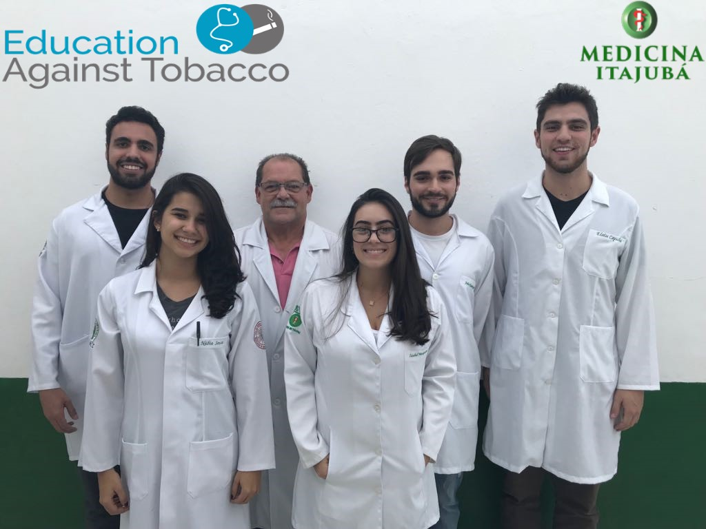 From left to right: medical students Kesley and Núbia, Prof. Dr. Wagner, medical students Izabel, João Paulo and Guilherme. Itajubá Medical School (FMIt), Brazil.