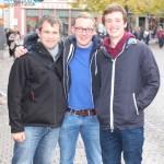 Medical students Marc Silchmüller (Hannover), Felix Hofmann (Gießen), Caelán Haney (Heidelberg)