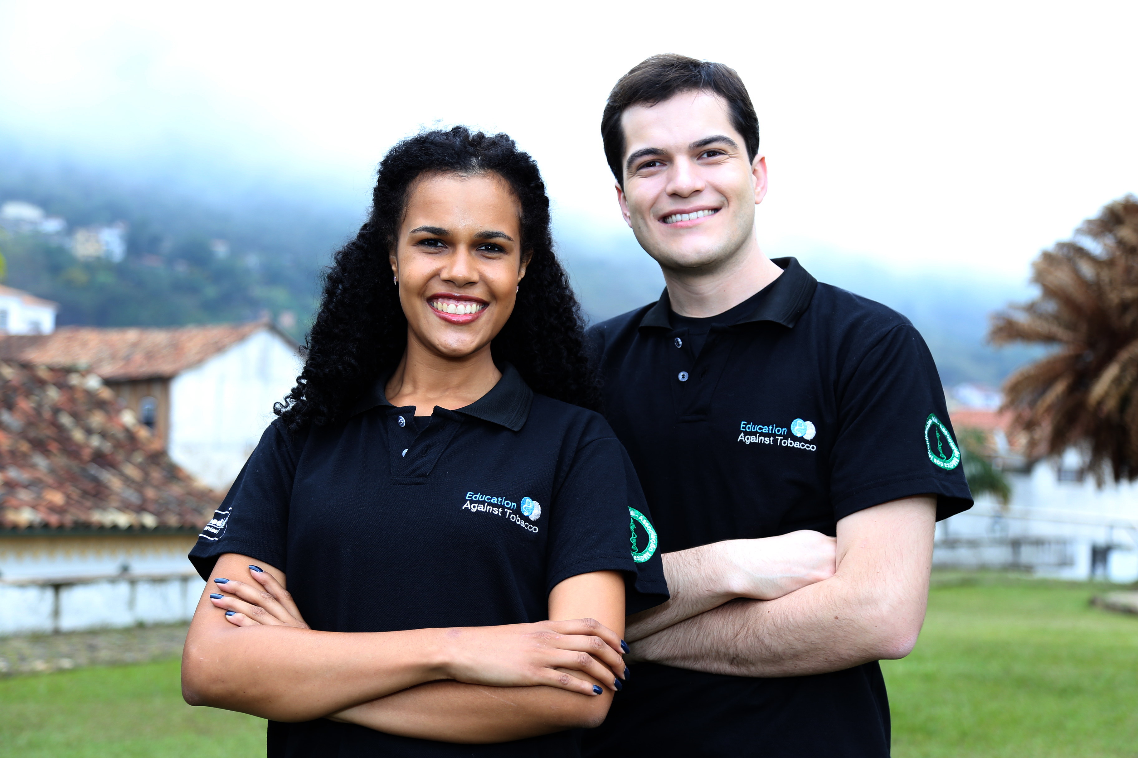 Rayanna Pereira (EAT Coordinator in Portuguese-speaking Countries) and Breno Bernardes (EAT-Brazil General Supervisor)