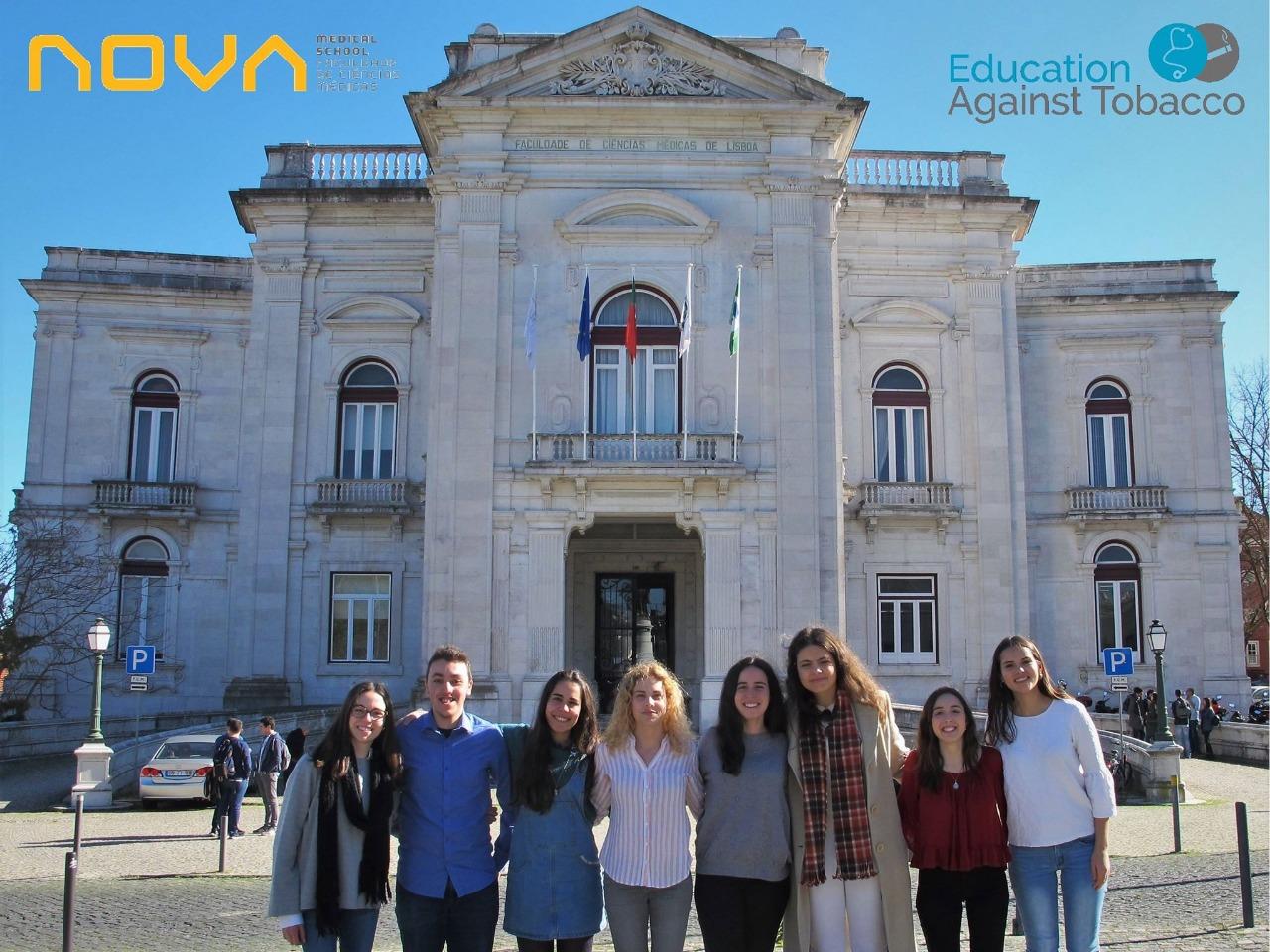 EAT-Portugal members: Maria Inês Roxo, Paulo Gomes, Inês Gaspar, Cláudia Oliveira, Beatriz Folgado, Dimey Roque, Teresa Homem, Ana Antunes