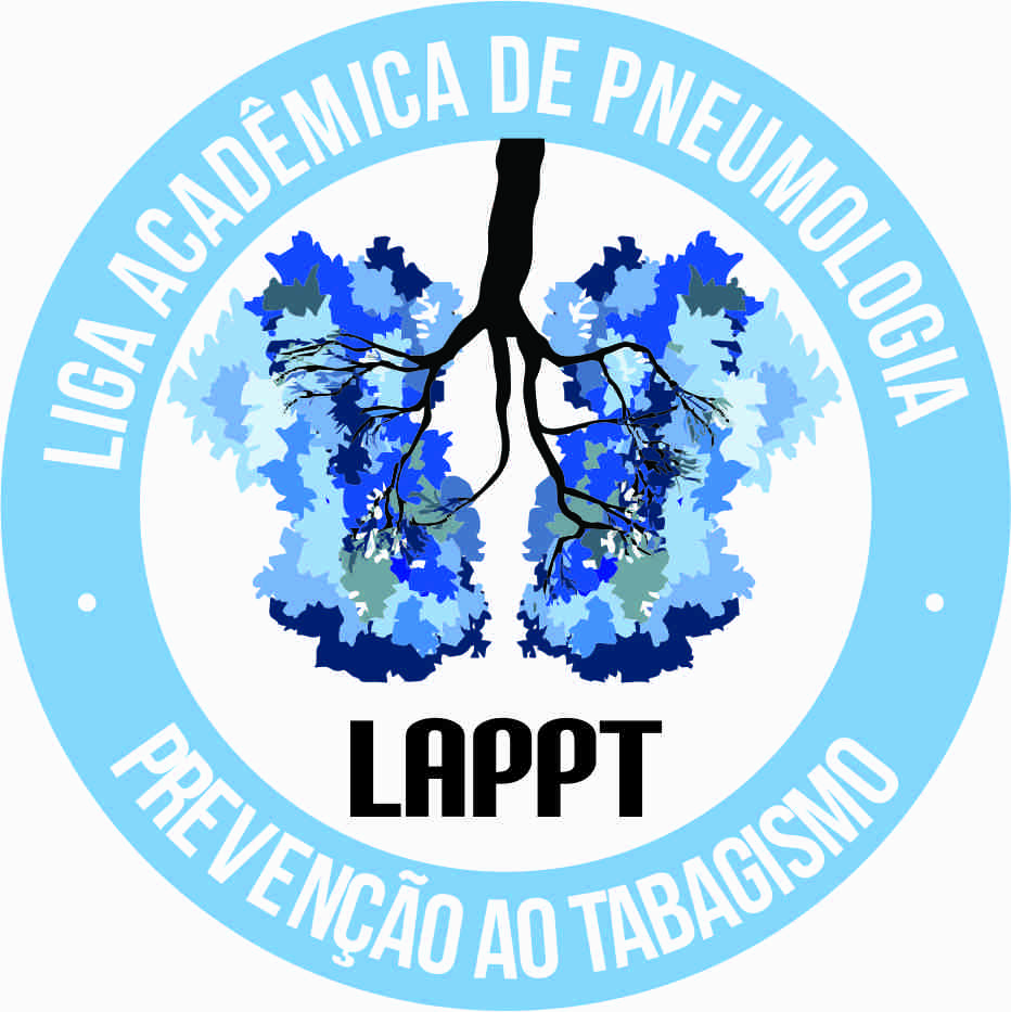 UFTM Pulmonology and Tobacco Prevention Academic League`s logo. Intentionally, the colors are similar to EAT`s logo.